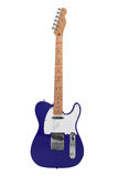 Electric Guitar. Isolated over a white background with a clipping path royalty free stock photography