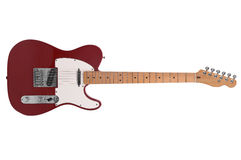 Electric Guitar. Isolated over a white background with a clipping path stock images