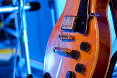 Electric guitar. Picture of a vintage, classic electric guitar. Close up Royalty Free Stock Photo