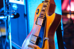 Electric guitar. Picture of a vintage, classic electric guitar. Close up Stock Photo