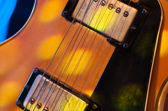 Electric guitar. Picture of a vintage, classic electric guitar. Close up Royalty Free Stock Image