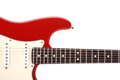 Electric guitar. Front of electric guitar isolated on white background Stock Photos