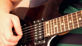 Electric guitar stock video footage