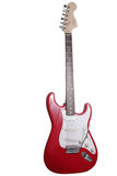 Electric guitar. Red electric guitar isolated over white Stock Images