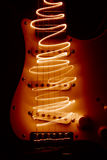 Electric guitar. Playing electric guitar with light Royalty Free Stock Photos