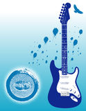 Electric guitar stock illustration