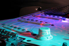Electric Guitar. Broken string electric guitar has played its best Royalty Free Stock Photos