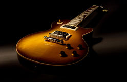 Electric guitar. Les paul electric guitar with 6 strings Royalty Free Stock Photos