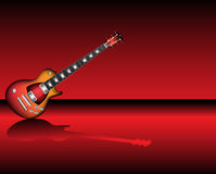 Electric guitar. Colorful background with modern electric guitar Royalty Free Illustration