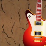 Electric guitar against cracked concrete wall. Eps 10 vector illustration Royalty Free Stock Photography