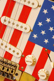 Electric guitar American flag details 5 Royalty Free Stock Photos