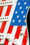Electric guitar American flag details Royalty Free Stock Image