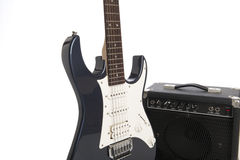 Electric guitar and amp Royalty Free Stock Photos
