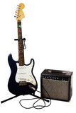 Electric Guitar and Amp Stock Photo