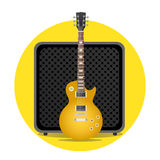 Electric guitar with amp Royalty Free Stock Photo