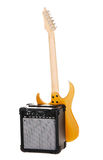 Electric guitar with amplifier Stock Images