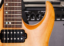 Electric guitar with amplifier Stock Image