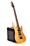 Electric guitar with amplifier Stock Photo