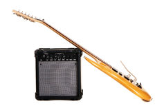 Electric guitar with amplifier Royalty Free Stock Photography