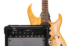 Electric guitar with amplifier Royalty Free Stock Photo