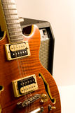 Electric guitar and amplifier Royalty Free Stock Photography
