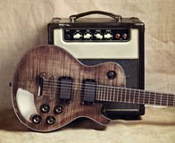 Electric Guitar and Amplifier Stock Images