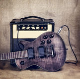 Electric Guitar and Amplifier Stock Photography