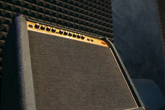 Electric guitar amplifier closep with free spce Royalty Free Stock Image