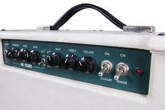 Electric guitar amplifier controllers Stock Photo