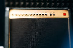 Electric guitar amplifier front view closep Royalty Free Stock Photos
