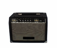 The Electric guitar amplifier on isolated Royalty Free Stock Photography