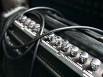 Electric guitar amplifier knobs closep Royalty Free Stock Photography