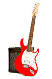 Electric guitar with amplifier Royalty Free Stock Photos