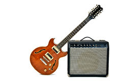 Free Electric Guitar And Amplifier Royalty Free Stock Images - 20011879