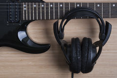 Free Electric Guitar And Headphones Stock Photos - 63228213