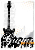 Electric guitar background. Electric guitar poster background in the s Stock Photos