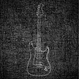 Electric guitar background Royalty Free Stock Photo