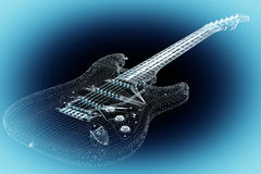 Electric guitar on background Stock Photo
