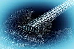 Electric guitar on background Royalty Free Stock Images