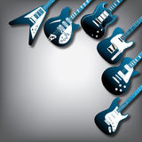 Electric guitar background Royalty Free Stock Photography