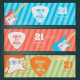 Electric guitar banner background. vector illustration Royalty Free Stock Photography
