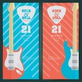 Electric guitar banner background. vector illustration Stock Image
