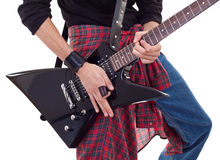 Electric guitar being played Stock Photo