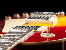 Electric guitar on black background Royalty Free Stock Image