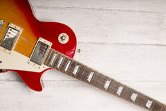 Electric guitar on black Stock Photo