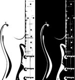 Electric guitar black-white version Royalty Free Stock Images