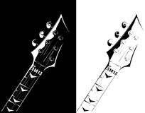 Electric guitar black-white version Royalty Free Stock Photography