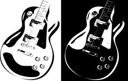 Electric guitar black-white version Royalty Free Stock Photos