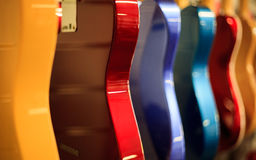 Electric Guitar Bodies in line Stock Photos