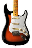 Electric guitar body. Electric stratocaster guitar body with great color and and nice rim light Royalty Free Stock Photos